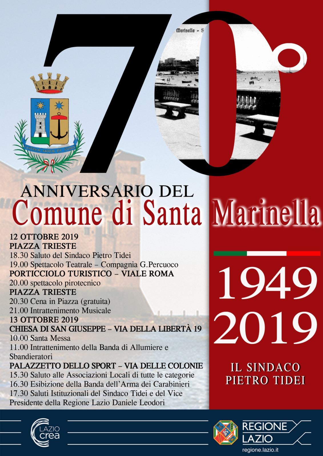 70° anniversario della nascita del Comune di Santa Marinella