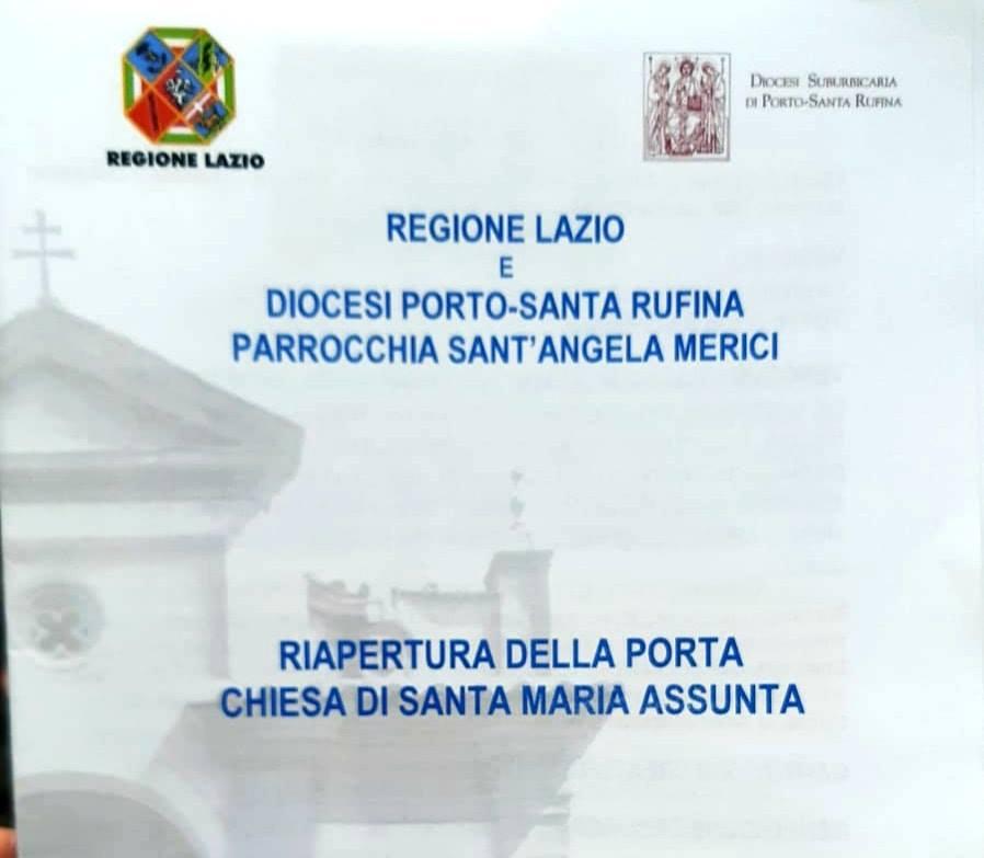 Riapertura della Porta , CHIESA SANTA MARIA ASSUNTA. Castello di Santa Severa
