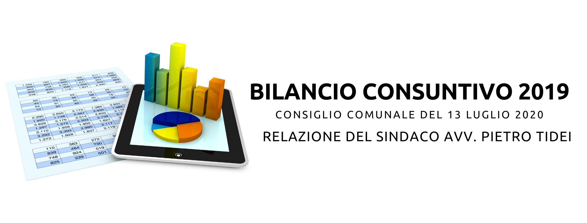 BILANCIO CONSUNTIVO 2019 - Relazione del Sindaco