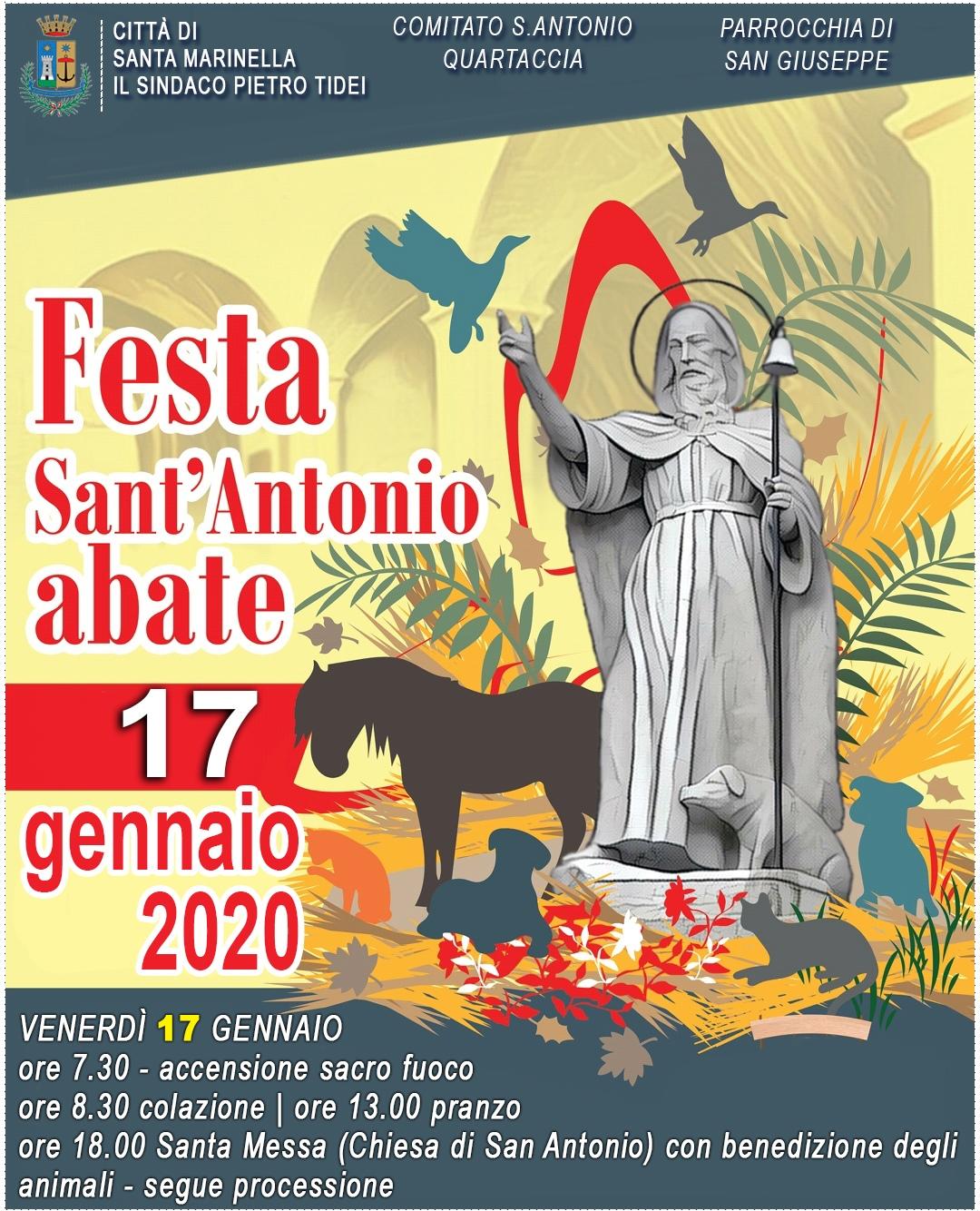 Festa di S.Antonio. Venerdì 17 gennaio 2020
