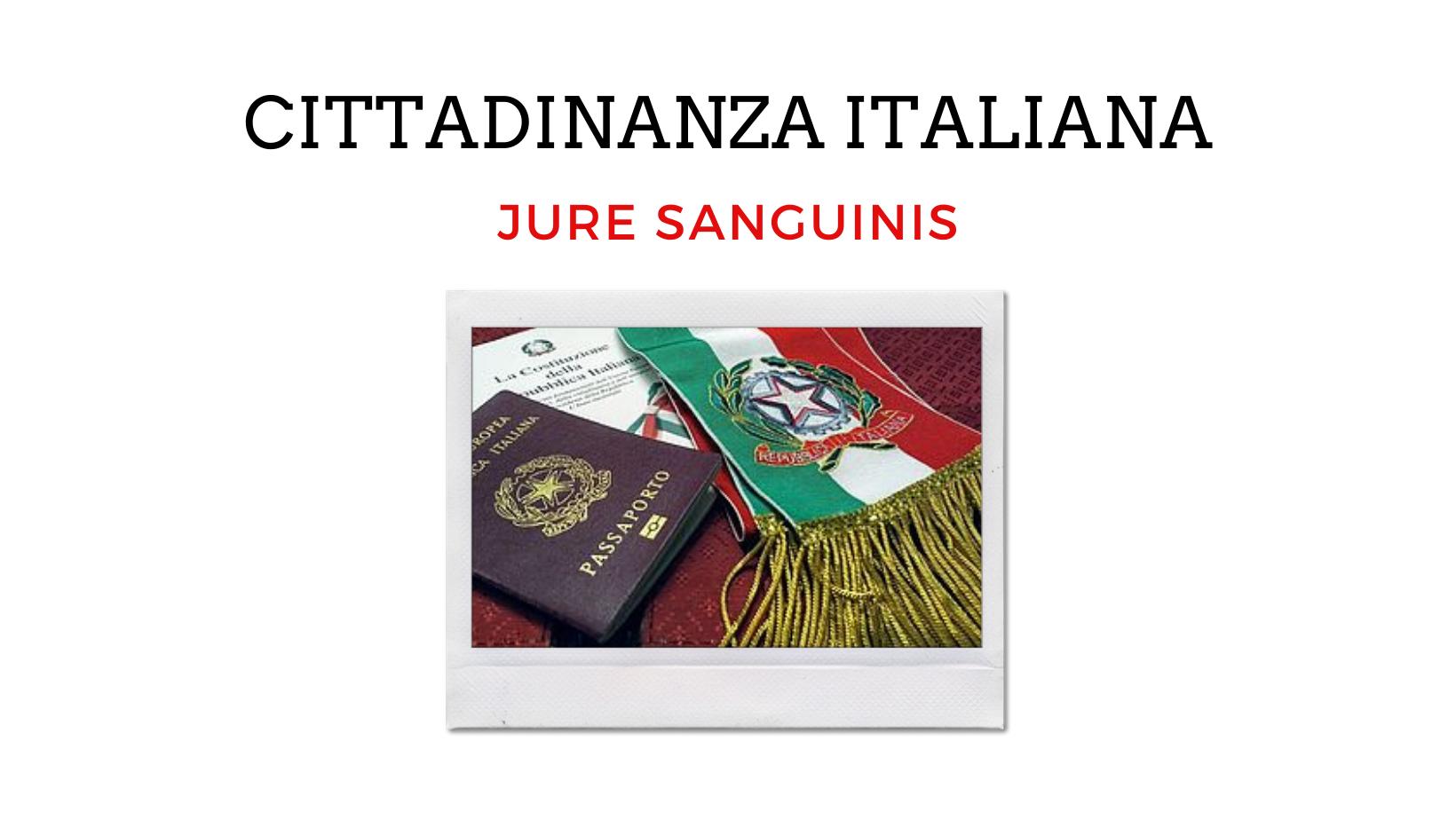 UFFICIO DI STATO CIVILE - CITTADINANZA ITALIANA JURE SANGUINIS